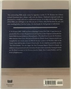 Advanced Bible Course Back Cover